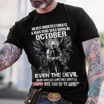Veterans Day Unisex T-Shirt, Personalized T-shirt, Never Underestimate A Man Who Was Born In Unisex T-Shirt - Spreadstores