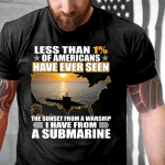 Veterans Shirt - Sunset From A Warship I Have From Submarine T-Shirt - Spreadstores