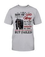 Veterans Shirt - I Am A Son Of God I Was Born In May My Scars Tell A Story T-Shirt - Spreadstores