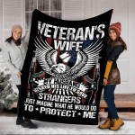 Veteran's Wife My Husband Risked His Life To Save Strangers Fleece Blanket - Spreadstores