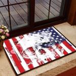 Veteran Welcome Rug, Skull American Flag Door Mats, Welcome Mat Indoor Outdoor, Home Decor, Housewarming Gift - Spreadstores