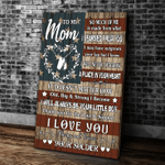 Veteran To My Mom Canvas, So Much Of Me Is Made From What I Learned From You Canvas, Gift For Mother's Day - Spreadstores