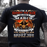 Veteran T-Shirt, Gift For Dad, I'm A Grumpy Old Man I Was Born In March T-Shirt - Spreadstores