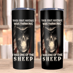 Veteran Tumblers, Your First Mistake Was Thinking I Was One Of The Sheep Skinny Tumbler - Spreadstores
