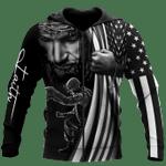 Veteran Zipped Hoodie, U.S Veteran, Jesus Christ, One Nation Under God All Over Printed Zipped Hoodie - Spreadstores