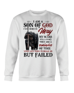 Veterans Shirt - I Am A Son Of God I Was Born In May My Scars Tell A Story Crewneck Sweatshirt - Spreadstores