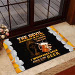 Veteran Welcome Rug, Veteran Mat, The Devil Whispered In My Ear, I Whispered Back Bring Some Beer Doormat - Spreadstores
