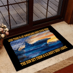 Veteran Welcome Rug, Less Than 1% Of Americans Have Ever Seen The Sunset From A U.S. Navy Ship Doormat - Spreadstores