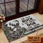 Veteran Welcome Rug, Veteran Custom Doormat, Personalized Deer Camo Old Buck Sweet Doe Doormat, Welcome Mat - Spreadstores