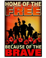 Veterans Canvas Home Of The Free Because Of The Brave Matte Canvas - Spreadstores