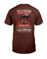 Veteran Who Wrote A Blank Check I Am Proud To Be One Of Them T-Shirt - Spreadstores