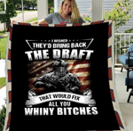 Veterans Blanket - I Wished They'd Bring Back The Draft Fleece Blanket - Spreadstores