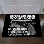 Veteran Welcome Rug, Veteran Doormat, Before You Break In To My House Doormat, Welcome Mat, Housewarming Gift - Spreadstores