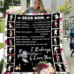 Veterans Blanket - Dear Mom I Will Always Love You Fleece Blanket - Spreadstores