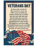 Veterans Day, On Veterans Day We Honor All, Who Answered To A Service Call, Gift For Veteran, Veterans Day Matte Canvas - Spreadstores