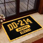 Veteran Welcome Rug, Veteran Doormat, DD-214 Army Alumni, US Army Veterans Doormat, Home Decor - Spreadstores