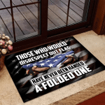 Veteran Welcome Rug, Those Who Would Disrespect Our Flag Have Never Been Handed A Folded One Doormat - Spreadstores