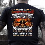 Veteran T-Shirt, Gift For Dad, I'm A Grumpy Old Man I Was Born In November T-Shirt - Spreadstores