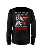 Veterans Shirt - The Devil Saw Me With Head Down And Thought He'd Won Until I Said Amen Long Sleeve - Spreadstores