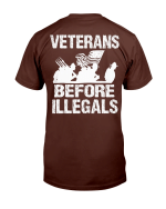 Veterans Before Illegals - Military American Flag T-Shirt - Spreadstores