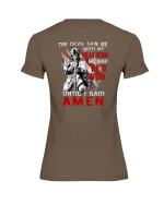 Veterans Shirt - The Devil Saw Me With Head Down And Thought He'd Won Until I Said Amen Ladies T-Shirt - Spreadstores
