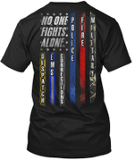 Veteran Shirt, No One Fights Alone Standard T-Shirt - Spreadstores