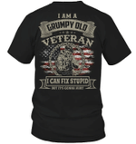 Veteran Shirt, Dad Shirt, I Am A Grumpy Old Veteran I Can Fix Stupid T-Shirt KM1106 - Spreadstores