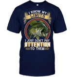 Veteran Shirt, Fishing Shirt, Fishing - I Know My Limits, Father's Day Gift For Dad KM1404 - Spreadstores