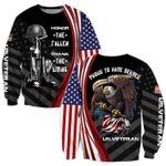 Veteran Sweatshirt, Honor The Fallen Thank The Living All Over Printed Sweatshirts - Spreadstores