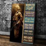 Veteran Solider Canvas, Gift For Veterans, Veteran Born To Fight Trained To Kill Prepared To Die Canvas - Spreadstores