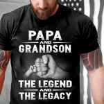 Veteran Shirt, Gift For Dad, Papa And Grandson, The Legend And The Legacy T-Shirt - Spreadstores