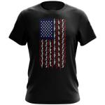 Veteran Shirt, Gun Shirt, American Flag In Guns Patriotic Colors T-Shirt KM0308 - Spreadstores