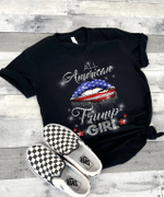 Veteran Shirt, Trump Shirt, All American Trump Girl V-Neck T-Shirt - Spreadstores