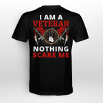 Veteran Shirt, I Am A Veteran Nothing Scare Me T-Shirt KM2408 - Spreadstores