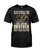 Veteran Shirt, Father's Day Shirt, In The Darkness Hour When The Demons Come T-Shirt KM2805 - Spreadstores