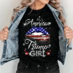 Veteran Shirt, Trump Shirt, All American Trump Girl Unisex T-Shirt KM1606 - Spreadstores