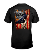 Veteran Shirt, Father's Day Shirt, Gifts For Dad, Fire Rescue America Flag T-Shirt KM0806 - Spreadstores