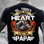 Veteran Shirt, Father's Day Gift Idea, Gift For Dad, So...There's This Guy That I Stole His Heart T-Shirt - Spreadstores