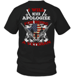 Veteran Shirt, Father's Day Shirt, I Will Never Apologize For Being A Veteran T-Shirt KM2905 - Spreadstores