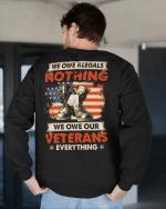Veteran Sweatshirt, We Owe Illegals Nothing We Owe Our Veterans Everything Combat Boots Sweatshirt - Spreadstores
