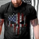 Veteran Shirt, Skull Shirt, American Skull T-Shirt KM0908 - Spreadstores