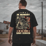 Veteran Shirt, In Memory Of All Who Have Served T-Shirt - Spreadstores