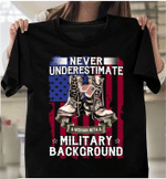 Veteran Shirt, Female Veteran, A Woman With A Military Background Unisex T-Shirt KM0106 - Spreadstores