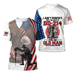Veteran Shirt, DD-214 Shirt, I Ain't Perfect But I Do Have A DD-214 All Over Printed Shirts - Spreadstores