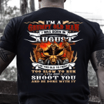Veteran T-Shirt, Gift For Dad, I'm A Grumpy Old Man I Was Born In August T-Shirt - Spreadstores