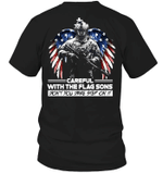 Veteran Shirt, Veteran Son, Careful With The Flag Sons T-Shirt KM0507 - Spreadstores