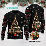 Funny Cow Christmas Tree Ugly Christmas Sweater Adult For Men & Women