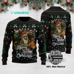 Merry Rockin Christmas Ugly Christmas Sweater Adult For Men & Women