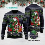 Funny Santa Tree Rex Ugly Christmas Sweater Adult For Men & Women