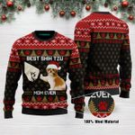 Best Shih Tzu Mom Ever Funny Ugly Christmas Sweater Adult For Men & Women
